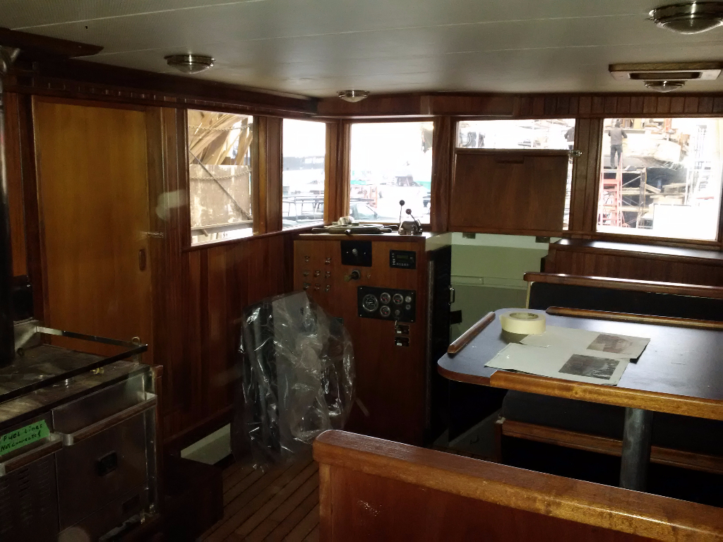 Classic monk full service shipyard for Boat interior restoration near me