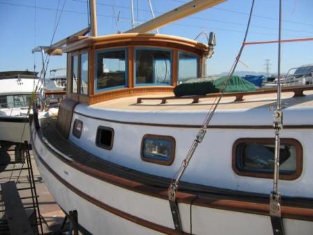 Angeline Helene wood boat